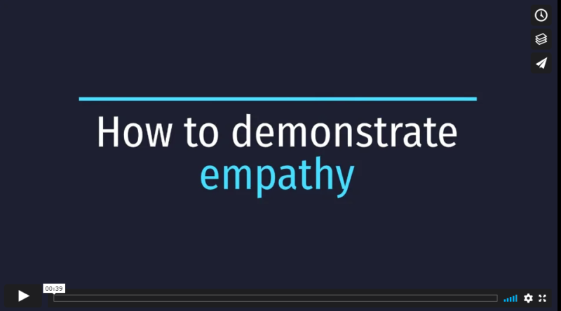 Screenshot How To Demonstrate Empathy Video
